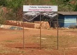 Após mostrar o que seria Hospital São Gotardo, nossa equipe foi até as obras do local