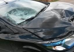 Atropelamento em frente a Meire Marmitex deixa homem gravemente ferido
