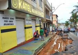 Forte chuva deixa estragos em Carmo do Paranaíba