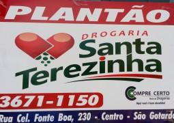 Farmácias de Plantão para este final de semana em São Gotardo