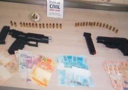 Garageiro de Patos de Minas é preso com pistolas escondidas em Pick Up