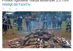 """Polícia da Indonésia queima maconha apreendida e deixa cidade """"chapada"""""""