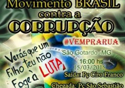 Passeata pacífica contra a CORRUPÇÃO acontecerá em São Gotardo