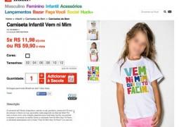 Camiseta infantil da grife de Luciano Huck é alvo de críticas