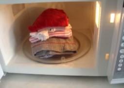 Aprendam a passar roupas utilizando o micro-ondas