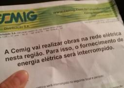 Rua Coronel Fonte Boa, a rua das clínicas e hospitais de São Gotardo, ficará sem energia nesta sexta-feira (10)