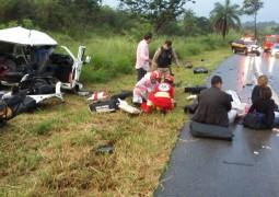 Duas pessoas morrem em grave acidente na BR-262 próximo a Córrego D'anta