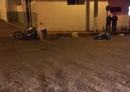 Em Rio Paranaíba, duas motocicletas batem e deixam motoristas feridos
