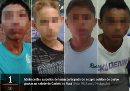 Menores de idade que cometeram estupro coletivo e mataram uma garota serão ouvidos pela Justiça nesta quinta