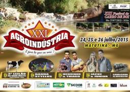 XXI Agroindústria começa nesta sexta (24/07) em Matutina