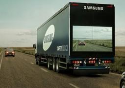 Samsung inventa Caminhão Inteligente que fornece câmera de visão para carros o ultrapassarem em segurança