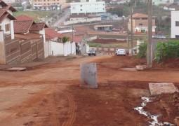Obras na Pinheiro Machado estão paradas a mais de uma semana