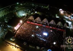 Vídeo: Confiram imagens aéreas da noite deste sábado (18) no Parque de Exposições