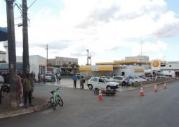 Grave acidente acontece em São Gotardo envolvendo caminhão e motocicleta
