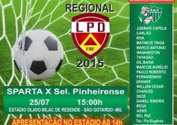 Sparta enfrenta Seleção Pinheirense em busca da liderança do Campeonato Regional