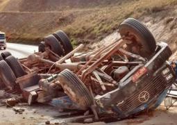 Motorista de caminhão morre em grave acidente próximo a cidade de Serra do Salitre