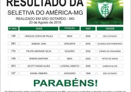 Garotos de São Gotardo passam em seletiva realizada pelo América-MG no estádio Olavo Bilac