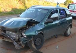 Motorista fica ferido após se envolver em acidente na B4-354 próximo a Lagoa Formosa