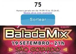 Resultado do sorteio do PAR de ingressos para a 1ª Balada MIX de São Gotardo