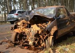 Homem fica gravemente ferido após se envolver em acidente de trânsito nos eucaliptos de Carmo do Paranaíba