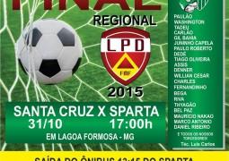 Sparta enfrenta Santa Cruz no último jogo do Campeonato Regional e partida terá transmissão ao vivo pela internet
