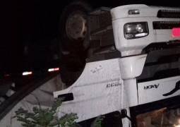 Pista molhada causa novo acidente na BR-354 próximo ao trevo de São Gotardo
