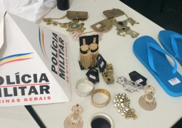 Loja é assaltada no centro de São Gotardo mas PM age rápido e prende autor