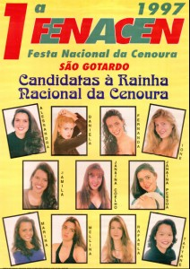 Cartaz da primeira Fenacen em 1997