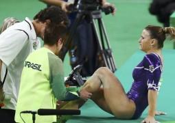 Com lesão no tornozelo, Jade Barbosa deixa mensagem: 'Daqui a pouco estou de volta'