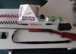 Contra crime de caça, Polícia Militar Ambiental realiza nova apreensão de armas na zona rural de São Gotardo