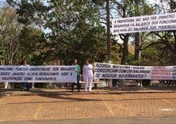 Servidores de Matutina cobram reajuste e protestam contra salários de vereadores e prefeito