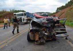 Investigador da Polícia Civil de Rio Paranaíba fica gravemente ferido em acidente na BR-354