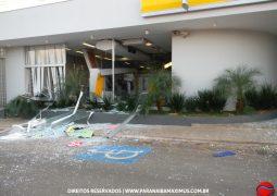 Criminosos explodem agência bancária em Rio Paranaíba