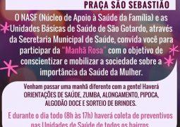 """NASF convida população Sangotardense para """"Manhã Rosa"""""""