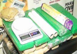 Suspeitos de tráfico de drogas em Patos de Minas são presos com aproximadamente 18 quilos de maconha