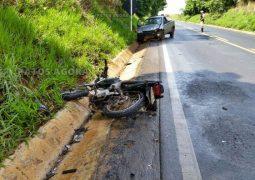 Motociclista fica gravemente ferido em acidente na MGC-354