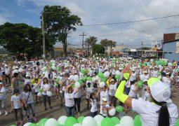 3ª Caminhada Passos que Salvam e realizada em São Gotardo e reúne centenas de pessoas