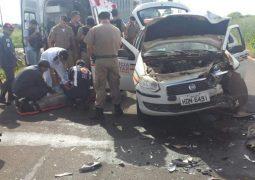 Grave acidente com viatura deixa 3 policiais e um motorista feridos no Belvedere
