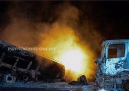 Grave acidente envolvendo quatro veículos de carga,tiram a vida de um dos condutores na BR 262