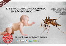 Nova campanha de combate ao Aedes Aegypti será realizada em todo município de São Gotardo a partir do dia 27 de Março