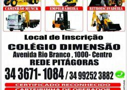 Colegio Dimensão e a WS Cursos traz para São Gotardo e região treinamento de máquinas pesadas