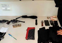 Trio é parado na Zona Rural de Patos de Minas com armas e vários materiais usados para praticar assalto