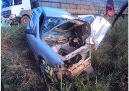 Grave acidente envolvendo duas carretas e um veículo de passeio na BR-354 faz vítima fatal