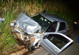Motorista Sangotardense fica ferido em grave acidente na BR-365