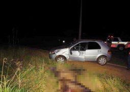 Colisão envolvendo veículo e cavaleiro deixa quatro pessoas feridas em rodovia de acesso a BR-354
