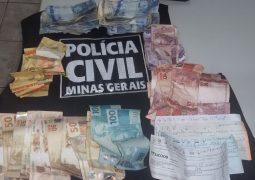 Polícia Civil recupera dinheiro roubado em assalto ocorrido em Supermercado de São Gotardo