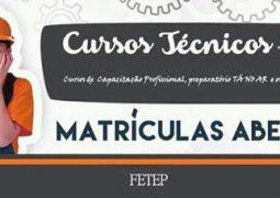 FETEP abre vagas para cursos técnicos que se iniciam em Agosto em São Gotardo