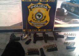 PRF encontra armas escondidas sob para-choque de veículo na BR-365