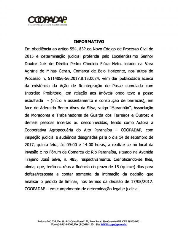 Informativo: Divulgação/COOPADAP