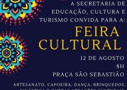 Feira Cultural acontece no próximo sábado (12) em São Gotardo